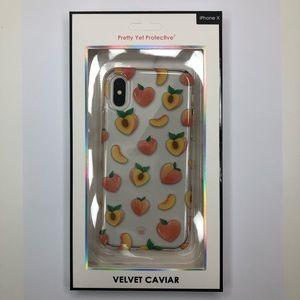 promo code bf9be ebdf0 Velvet Caviar iPhone X Case - Peaches
